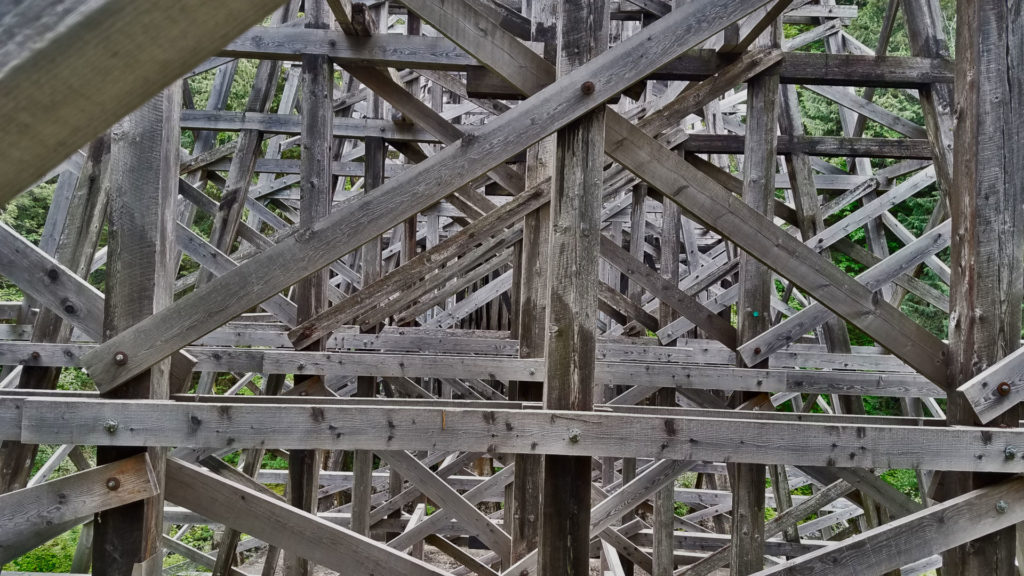 Kinsol Trestle on Vancouver Island, British Columbia Canada wood