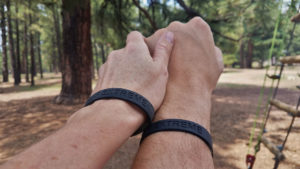 Learn about your Significant Other on a Tree Adventure Course Black bands
