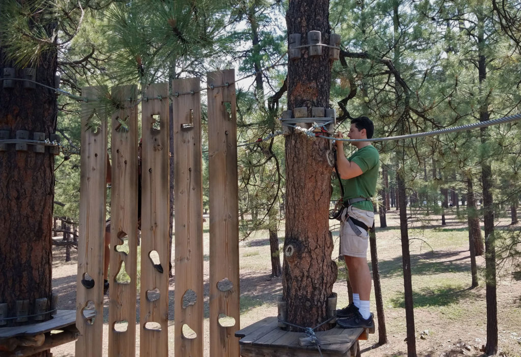 Learn about your Significant Other on a Tree Adventure Course Hunter obstacle 2