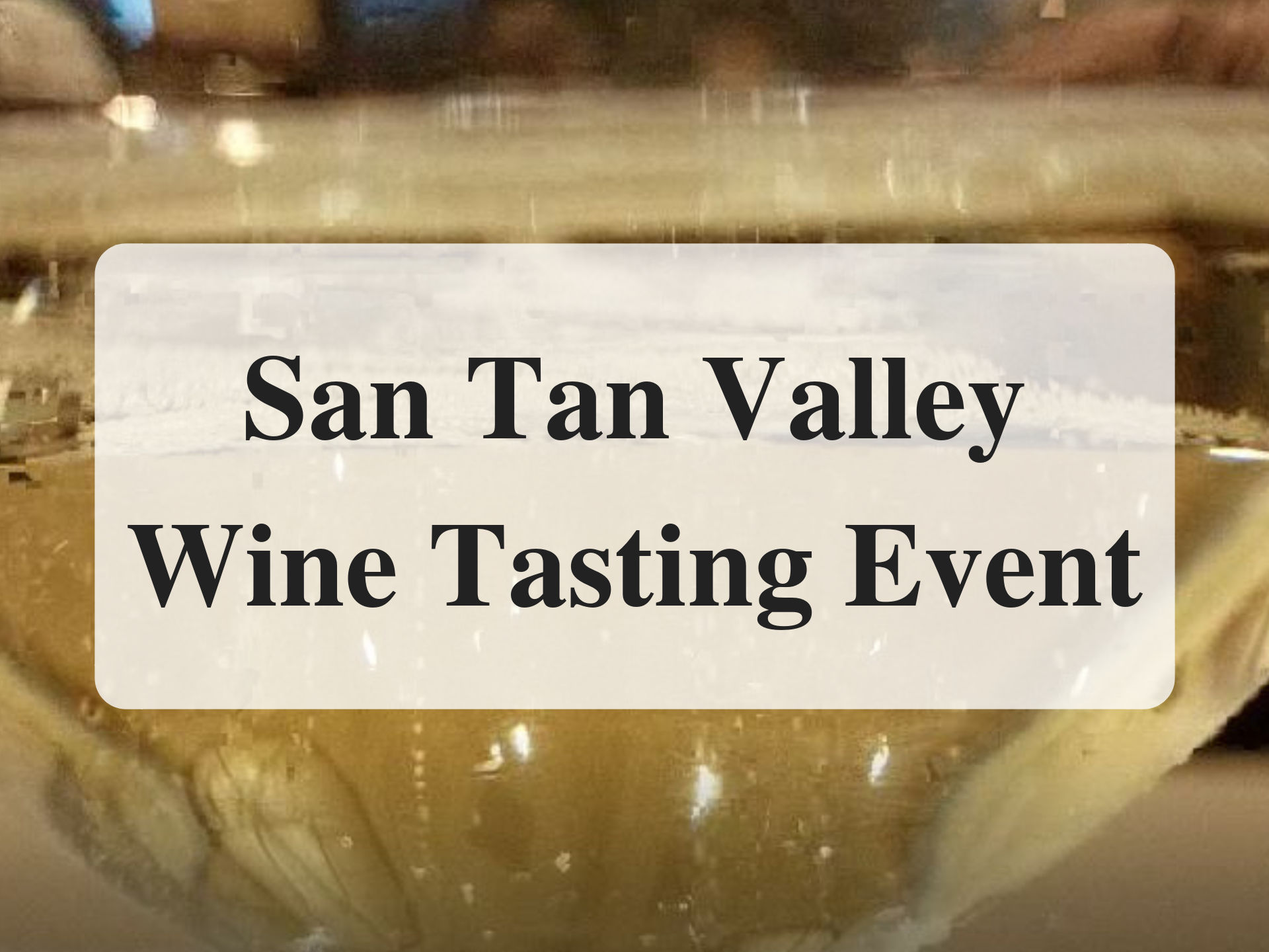 San Tan Valley Wine Tasting Event