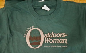 Becoming an Outdoors Woman (BOW) in Arizona September Camp Day 1 Tshirt