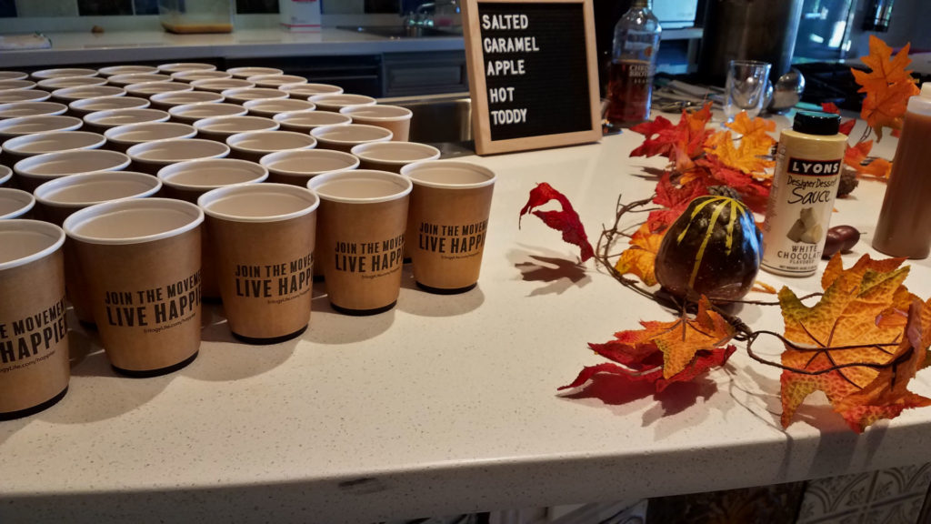 Fall Pumpkin Mixology and Spa Demo Forever Sabbatical cups