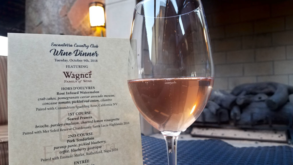 Wagner Family Wine Dinner Featured Pairing Dinner Menu