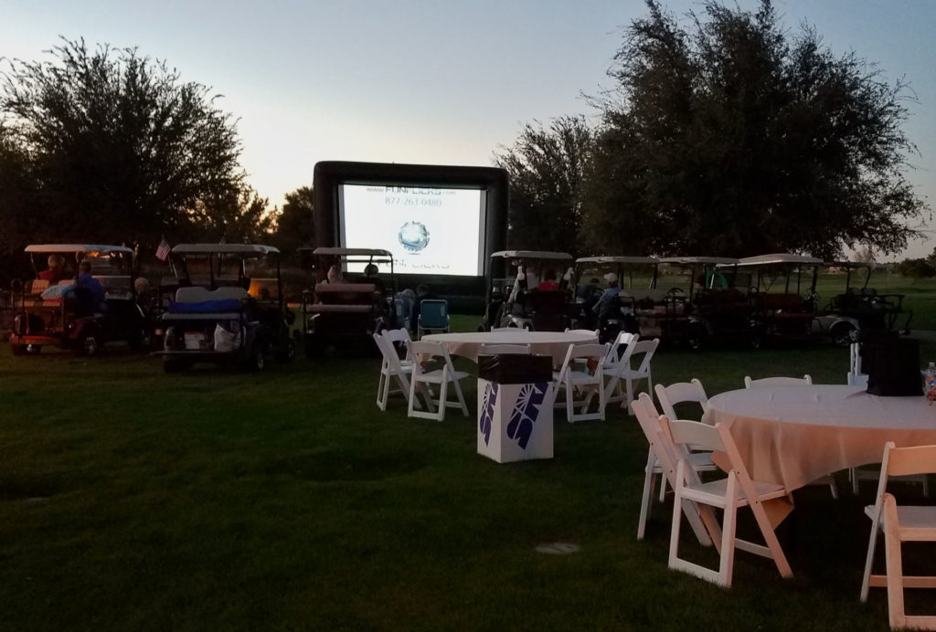Old Hollywood Dine-In Movie table and carts