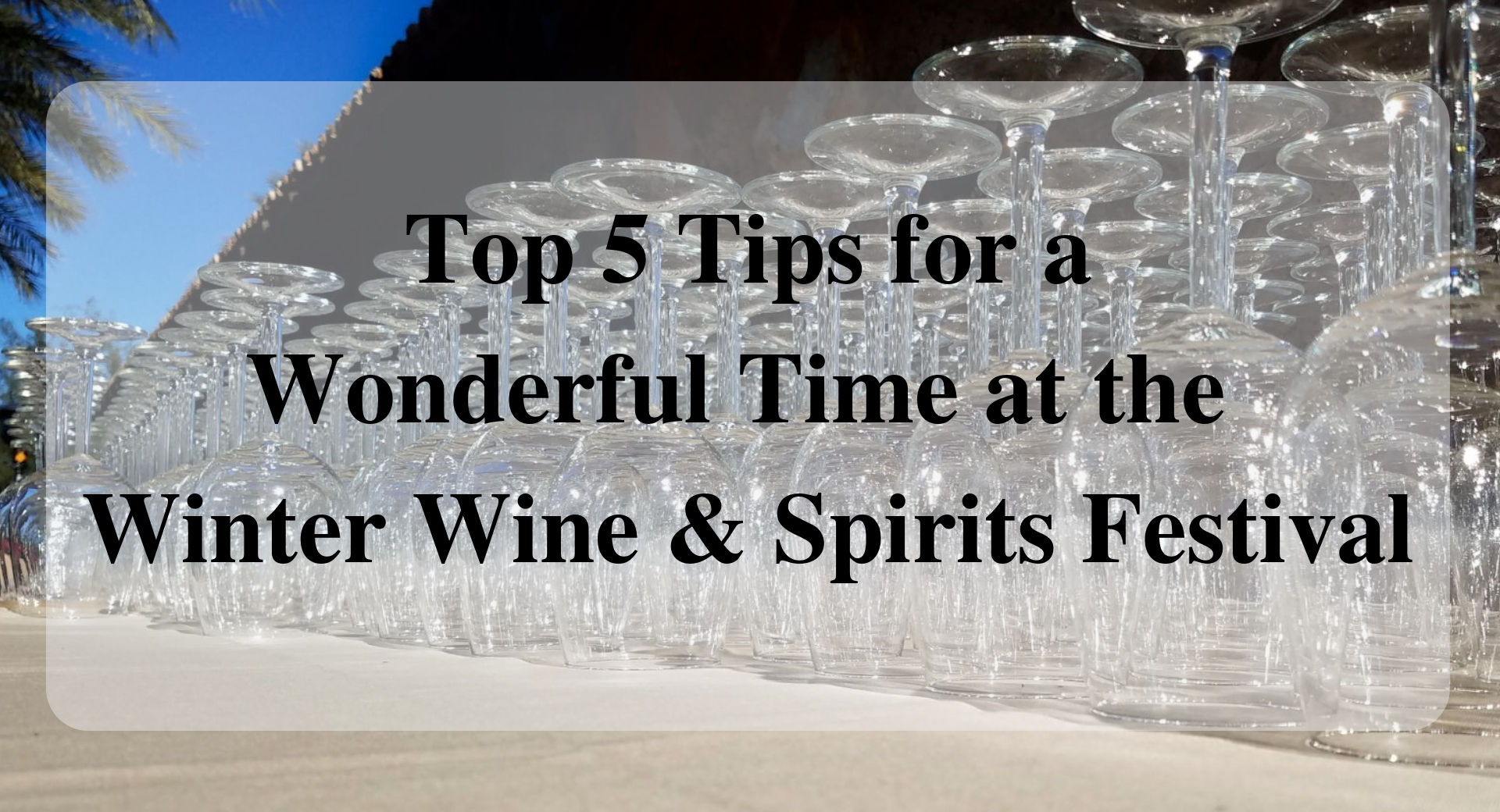 Top 5 Tips for a Wonderful Time at the Winter Wine & Spirits Festival