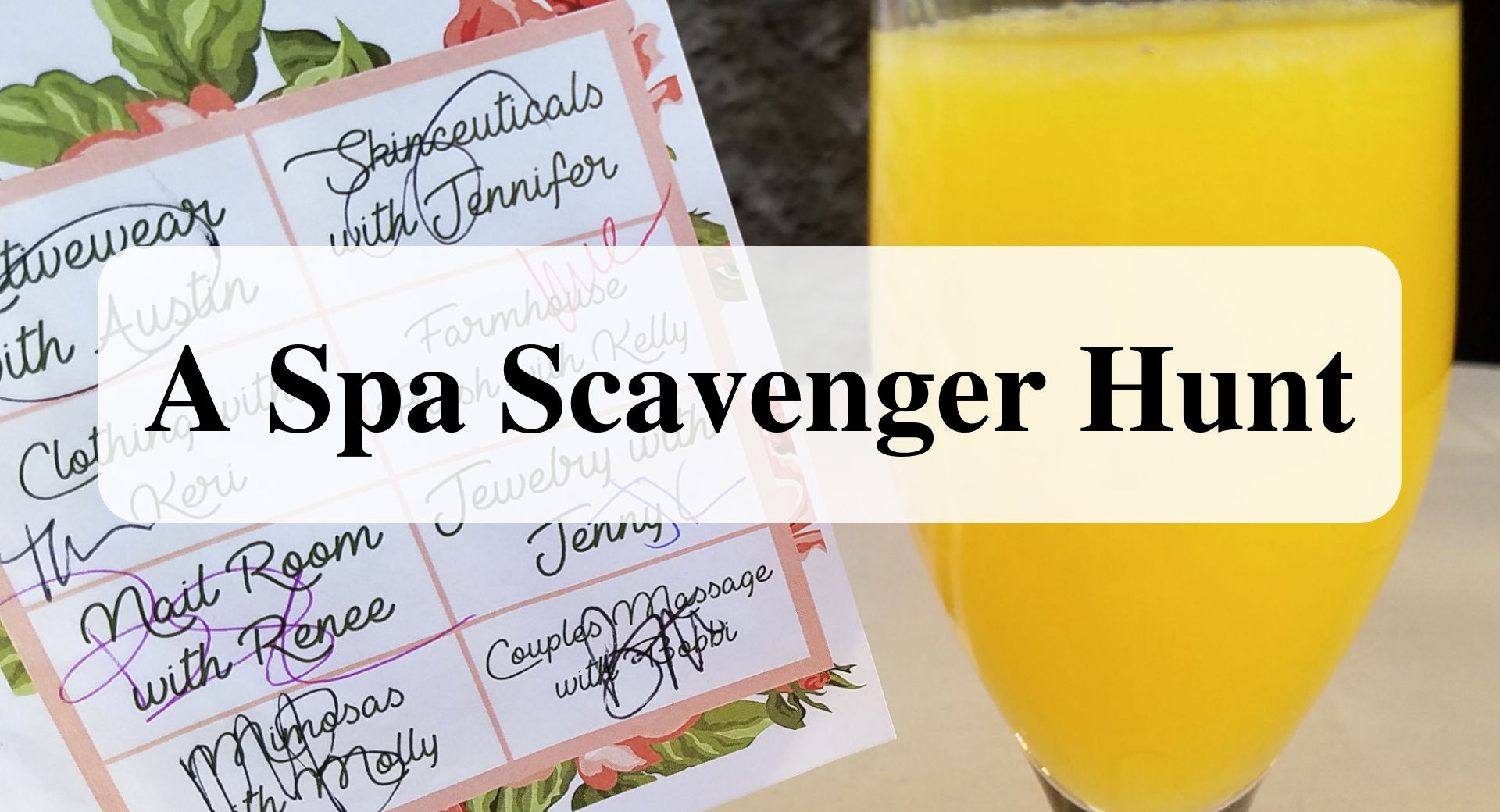 A Spa Scavenger Hunt main