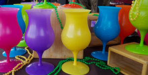 Color cups Mardi Gras Forever Sabbatical