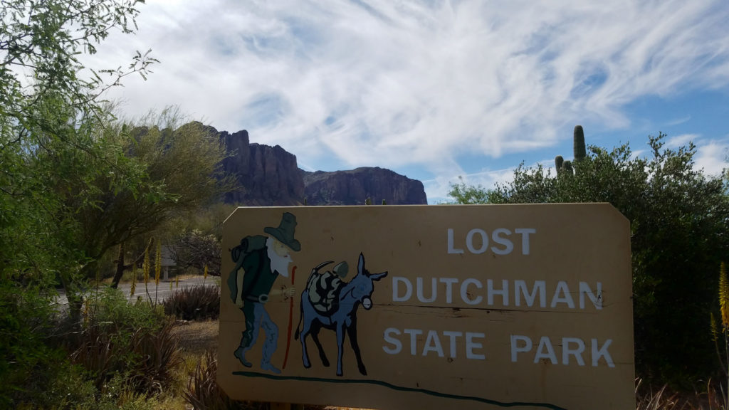 Lost Dutchman State Park Sign