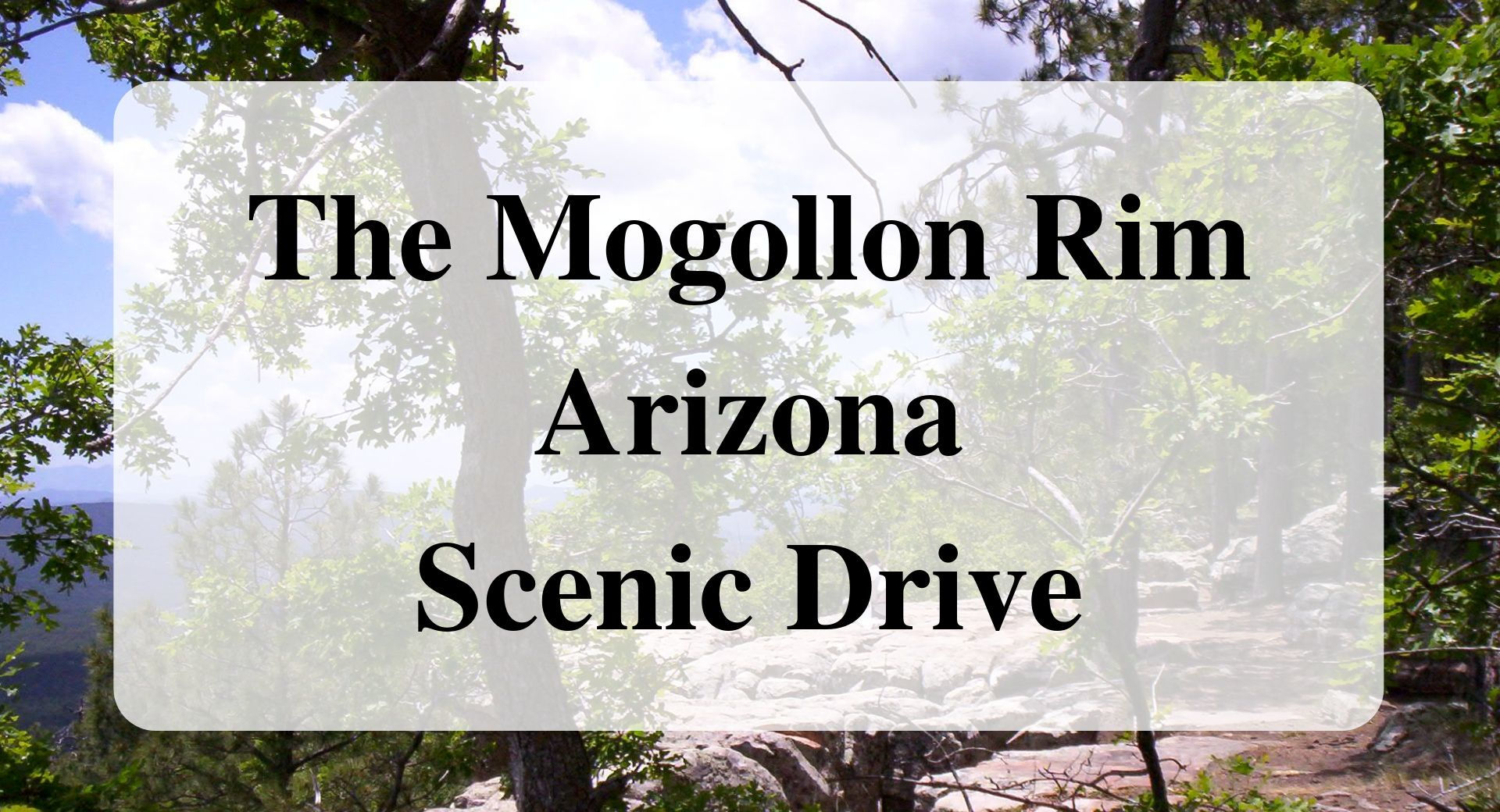 The Mogollon Rim Arizona Scenic Drive Forever Sabbatical