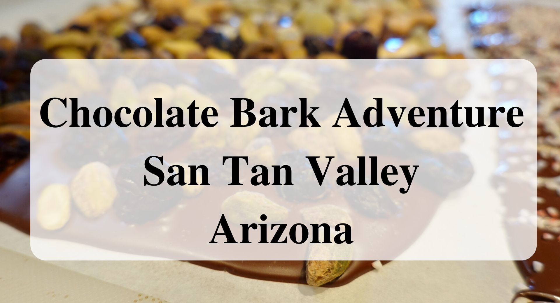 Chocolate Bark Adventure San Tan Valley Arizona Forever sabbatical