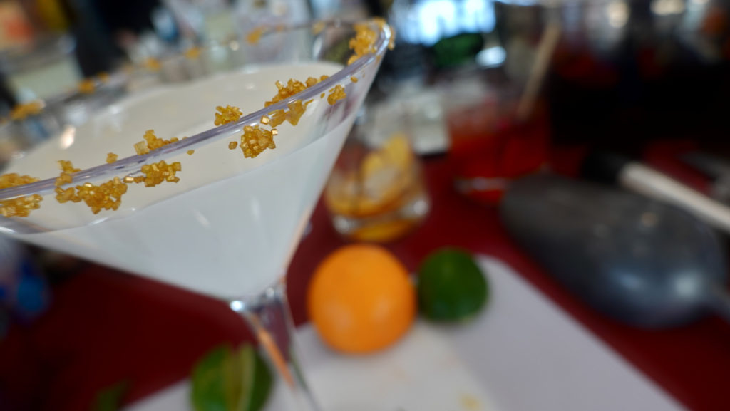 Snowflake martini Interactive Holiday Mixology, forever sabbatical