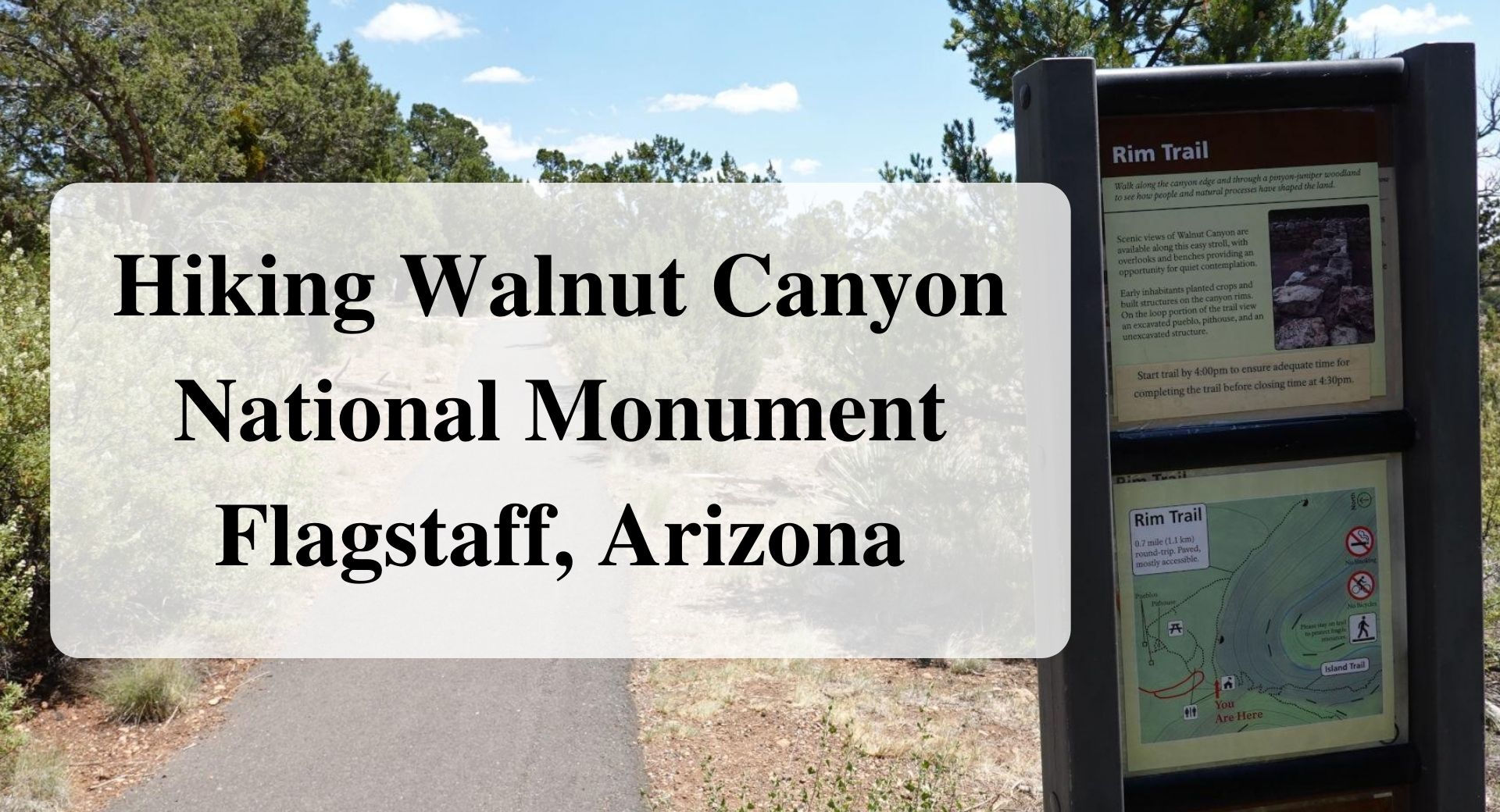 Hiking Walnut Canyon National Monument Flagstaff, Arizona Forever sabbatical