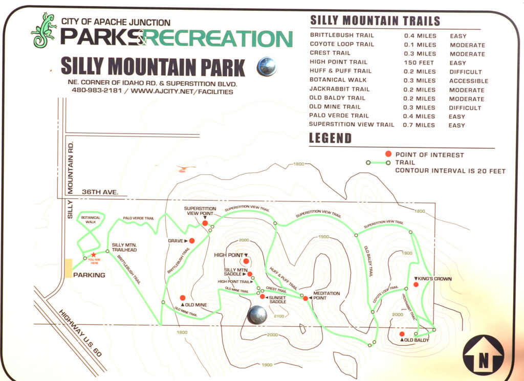 Silly Mountain Forever Sabbatical map