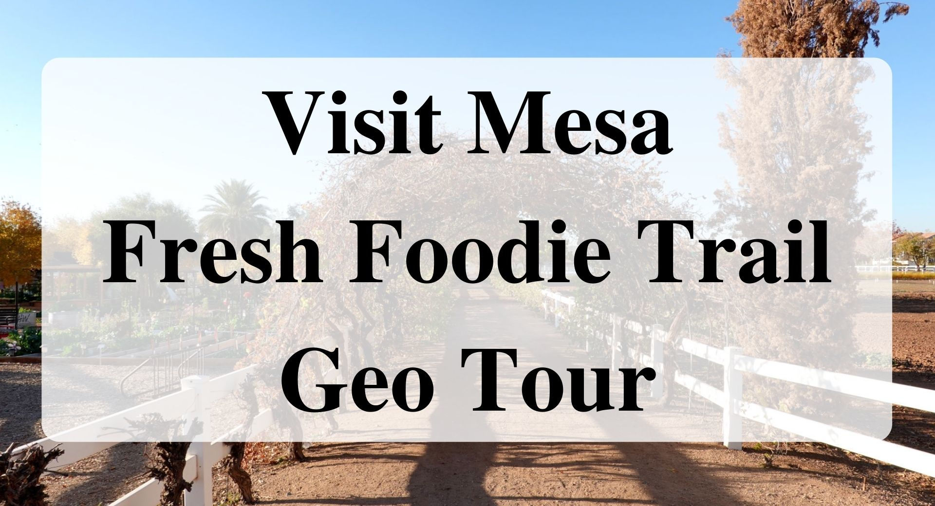 Visit Mesa Fresh Foodie Trail Geo Tour Forever sabbatical