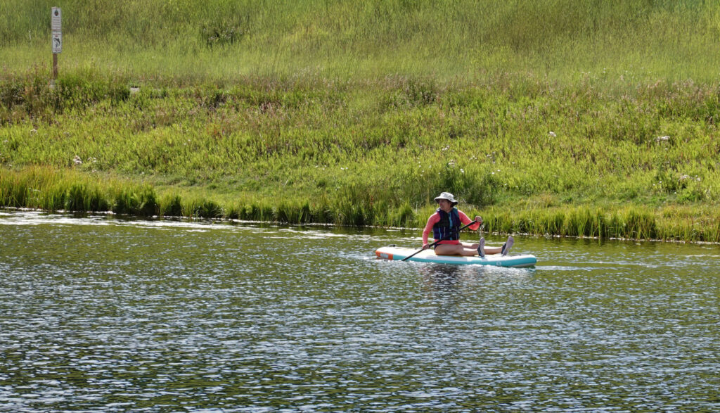 sitting stand up paddle boarding, forever sabbatical