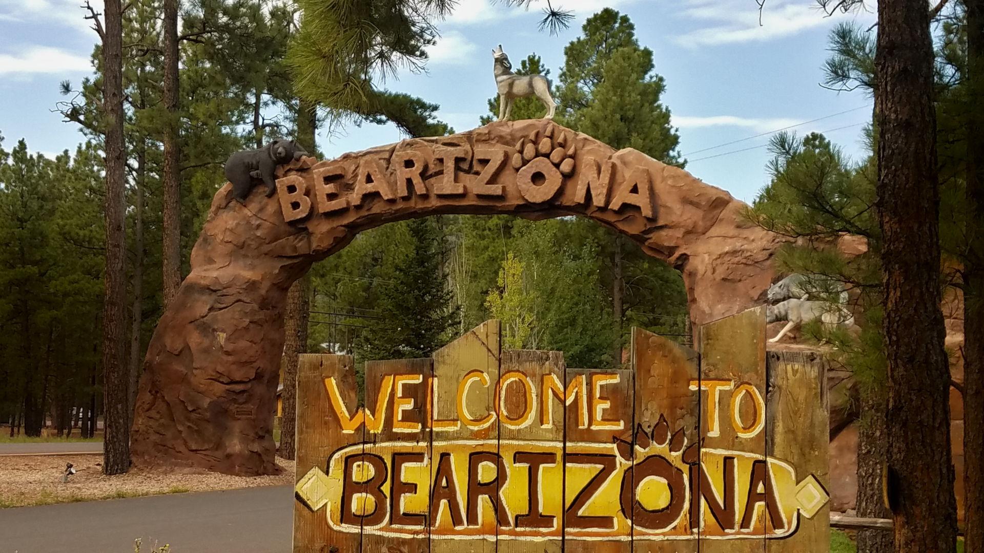 Adventures at Bearizona Entrence